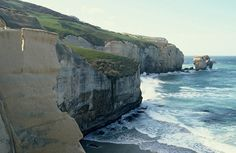 View looking out from the coast of Dunedin, New Zealand
