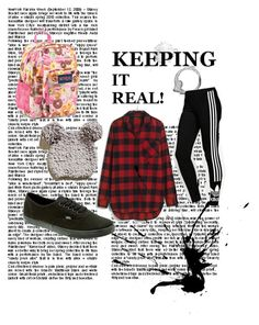 """""""Keepin it Real"""" by adriennebonney on Polyvore featuring adidas Originals, Madewell, Vans and JanSport"""