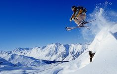 Nice Skiing Sports in the Winter.