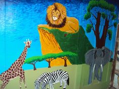 This is a mural I painted at the creche my friend works at.