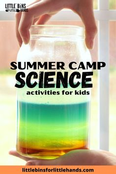 Inspire and challenge your children to experiment, explore, and enjoy with summer camp science activities for kids! With 6 days of themed, done-for-you science packs, it has never been so easy to engage your kids in learning science concepts. In these themed science packs, you can expect science snacks, science experiments, STEAM challenges , and so much more. Bust the summer boredom with amazing science project for kids. Great for home, distance, and classroom learning! Steam Activities, Science Activities For Kids, Kindergarten Science, Elementary Science, Summer Activities, Easy Science Experiments, Stem Science, Stem Learning, Early Learning