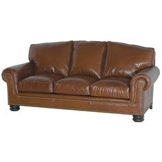 Leather Loveseats: Rockefeller Leather Loveseat Leather Sofa Set, Leather Loveseat, Leather Furniture, Custom Couches, Will And Grace, Trim Nails, Loveseats, Kids House, Cushions