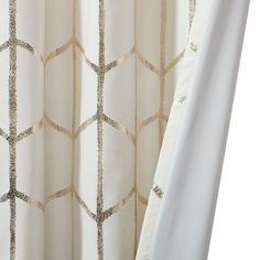 Shop for Intelligent Design Khloe Total Blackout Metallic Print Grommet Top Curtain Panel. Get free delivery On EVERYTHING* Overstock - Your Online Home Decor Outlet Store! Blackout Panels, Blackout Curtains, Panel Curtains, Cream Curtains, Gold Curtains, Geometric Curtains, Intelligent Design, Metal Clock, Metallic Prints