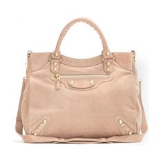 Powder pink Giant 12 Velo suede tote By Balenciaga