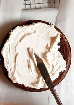 This Best Whipped Frosting is a silky, more substantial whipped cream. A puffy cloud of milk and sugar. It's luxurious and smooth, but only subtly sweet. Perfectly light and fluffy, and able to make an intense cake somehow delicate and dainty. Really, it's just the thing to balance an ultra rich chocolate fudge cake.