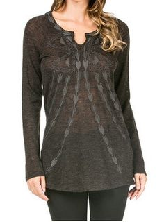 Knit Embroidered Tunic – Blue Bohemian