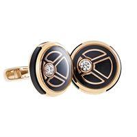 FABERGÉ Cufflinks - Visionnaire Diamond Rose Gold Cufflinks