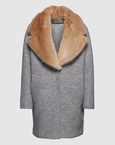 Mantel mit Fellkragen 'Sally'