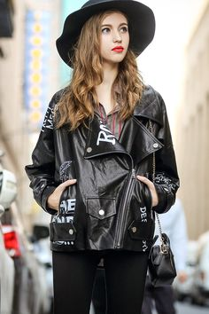 Asymmetric Zip PU Jacket