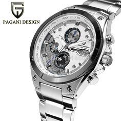 fb74a7cfc0d pagani luxo design aço inoxidável quartzo analógico mão esporte relógio de  pulso masculino horas de relógio relogio masculino US  66.50