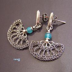 #koronki #crochet #wachlarze #silverwire