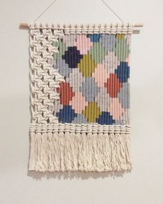 Woven macrame wall hanging / Honeycomb от KateAndFeather на Etsy