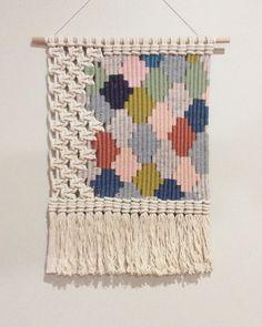 Woven macrame wall hanging / Honeycomb