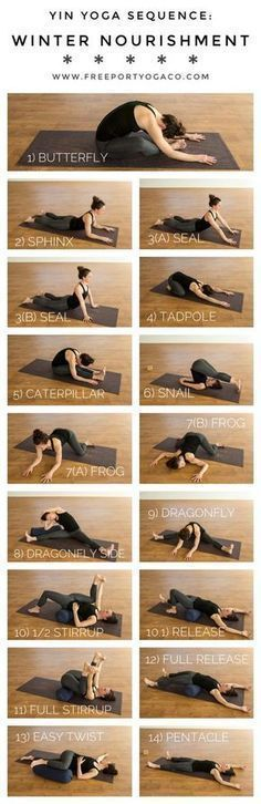 Yin Yoga Sequence for Winter Nourishment. - Yin Yoga Sequence for Winter Nourishment. Yoga Sequences, Yoga Poses, Pilates Poses, Gain Muscle, Yoga Fitness, Dance Fitness, Muscle Fitness, Health Fitness, Free Weight Workout