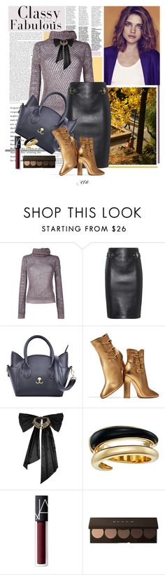 """Streetstyle fall"" by antal-era ❤ liked on Polyvore featuring Valentino, Moschino, Handle, Gianvito Rossi, Oscar de la Renta, Michael Kors and NARS Cosmetics"