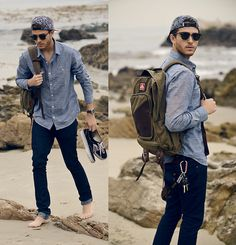 Oceanfront - look by Adam Gallagher: everything but the hat Sharp Dressed Man, Well Dressed Men, How To Look Classy, Look Chic, Hipster Vintage, Hipster Guys, Adam Gallagher, Outfit Trends, Outfit Ideas