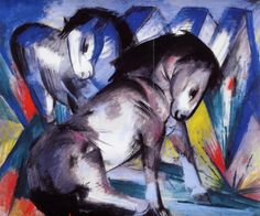 Franz Marc, Two Horses, 1913