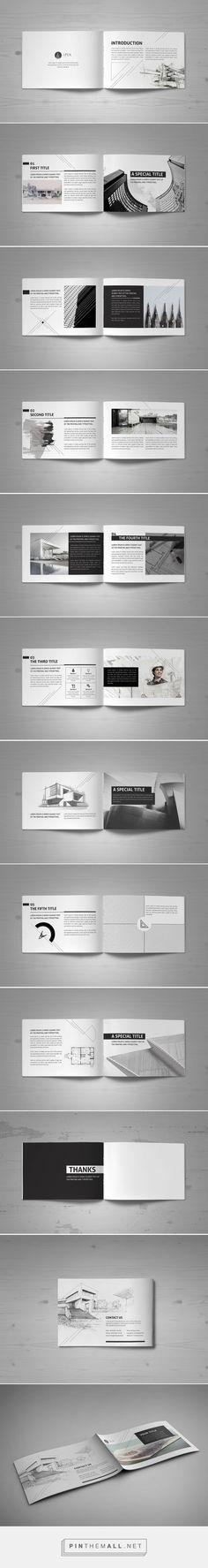 Minimal Modern Black & White Architecture Brochure by Mohammed Al Gharabli: