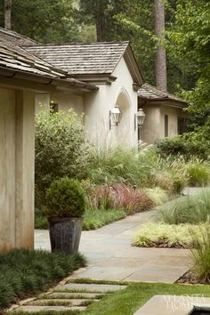 garten bepflanzen Masses of grasses Home Landscaping, Front Yard Landscaping, Patio Chico, Exterior, Ornamental Grasses, Tall Grasses, Dream Garden, Garden Paths, Garden Inspiration
