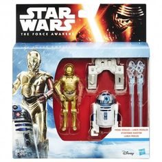 STAR WARS THE FORCE AWAKENS C3PO & R2D2 ACTION FIGURE 2 PACK