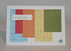 Scrap Paper Card ~ Stampin Up materials