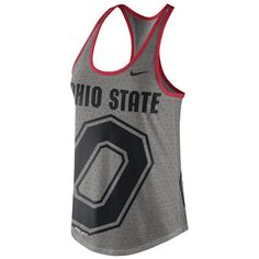 Ohio State Buckeyes Nike Women's Dri-Blend Gear Up Performance Tank Top - Gray