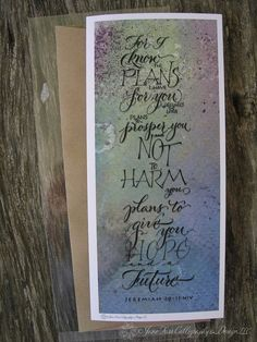 Graduation Quote Jeremiah 29:11 in Calligraphy