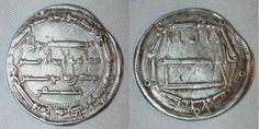 Madinat al-Salam or Baghdad Iraq Abbasid Silver Coin Harun Al-Rashid Dirham 180 AH / 796 AD Citing Al-Amin Heir and Jafar Good Very Fine