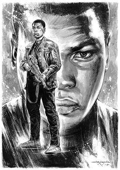 Finn • Star Wars Fan Art by Ricardo Drumond