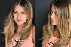 Hair Coloring / Orange Pink Top Ombre by Erica