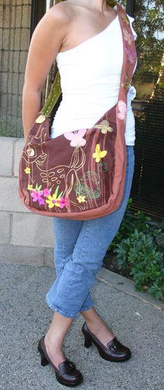 Loop Disney Bambi Brown Vegan Sling Bag