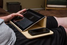 R & L Wood Products is raising funds for Wooden IPad & Laptop Stands on Kickstarter! Hand crafted wooden laptop and IPad stands. Made to fit your laptop or tablet, available in 6 stains Diy Ipad Stand, Tablet Stand, Small Wood Projects, Diy Projects, Wooden Laptop Stand, Diy Laptop Stand, Ipad Holder, Lap Desk, Wood Design