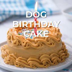 Birthday Cakes For Dogs, Doggie Birthday Cake, Easy Birthday Cake Recipes, Dog Cake Recipes, Make Birthday Cake, Homemade Birthday Cakes, Fun Baking Recipes, Dog Treat Recipes, Homemade Cakes