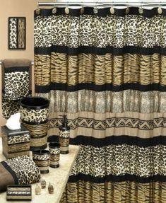 Popular Bath Bath Rug, Jezella Collection, x Animal Print Leopard Print Bathroom, Animal Print Bathroom, Animal Print Decor, Diy Bathroom Decor, Bathroom Shower Curtains, Bedroom Decor, Bathroom Ideas, Bathroom Shelves, Bathroom Styling