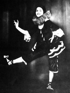 Fun image of Anita Berber in her Pierretto costume from her early days with the Rita Sacchetto dance troupe.