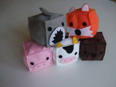 felt animal blocks - so cute - some lil tyke would love these!