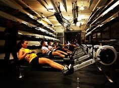 erg sessions with the girls, weirdly competitive