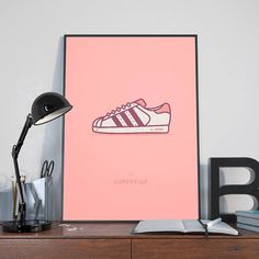 Adidas Superstar Sneaker Print • Sneaker Art • Adidas Sneaker Poster • Adidas Superstar Poster • Wall Art Print • Living Room Wall Decor Home Decor • • • • • • • • •  https://.etsy.com/shop/NoSweatPrintShop