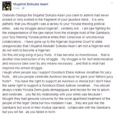 Asari Dokubo refuses to give up! Shares another co...