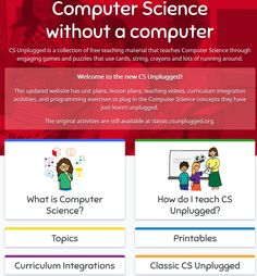 CS New Version Teaching Computers, Unit Plan, Computer Science, Learning Activities, Teacher Resources, Elementary Schools, Lesson Plans, Curriculum, Coding