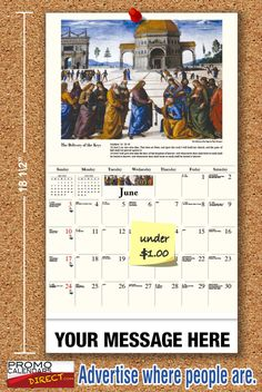 2021 Catholic Art Wall Calendars low as Fundraise for your Church or School. Promote your Business in the homes and offices of people in your area every day! Catholic Art, Promote Your Business, Trade Show, Fundraising, The Neighbourhood, Parents, The Unit, Student, Canvas