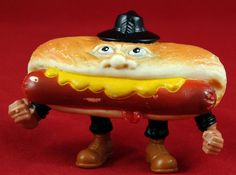 """Mean Weener, one of the Refrigerator Rejects from the """"Food Fighters"""" line of action figures"""