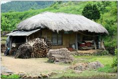 초가집 - Google 검색 Korean Traditional, Traditional House, Countryside Village, Ideal Home, Old Pictures, Landscape Architecture, Building A House, Gazebo, Exterior