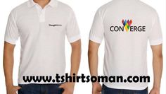 Corporate round neck & Polo cotton T shirts in Muscat Oman with logo silk screen printing & embroidery as per order www.tshirtsoman.com