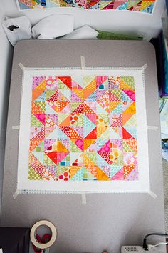 Warm Cool Quilt Along - Basting and Quilting  by jenib320-Today we're going to talk about the quilting! But first, before we start quilting, we need to baste. I'm going to walk through how I pin baste, but feel free to baste your quilt however you'd like! :)