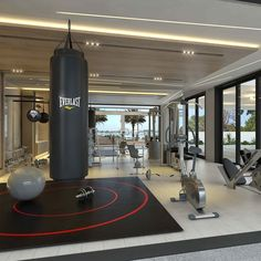A great gym setup and design for one of our homes in Miami. #miami #gym #design…