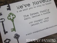Moving Announcement Postcards Set of 25 Moving by stampinfanatic, $37.50