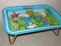 metal tv tray  omg i had this!!!!