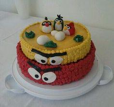 Pastel de cumpleaños Angry Birds