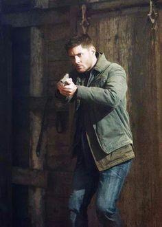 Dean with a gun